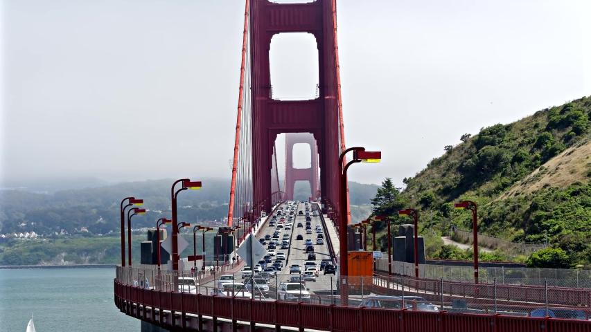 Time lapse at Golden gate bridge landscape, San Francisco, california