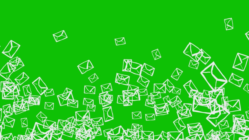 Set OF Exploding Animated Letters On Green Background. Ideal For Your Email, Post And Communication Related Projects. High-Quality Seamless Animation. 4K, 60fps | Shutterstock HD Video #1033767920