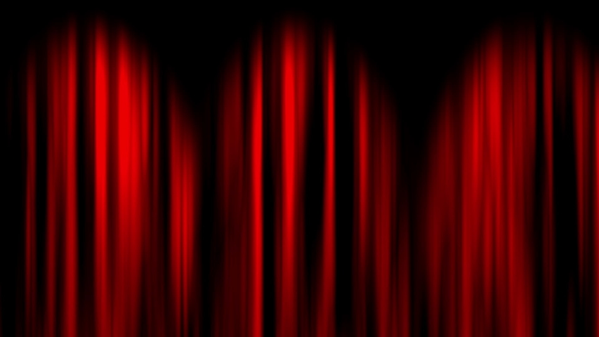 This is a video of Red overlapped curtain opening Both Ends with green screen | Shutterstock HD Video #1033824230