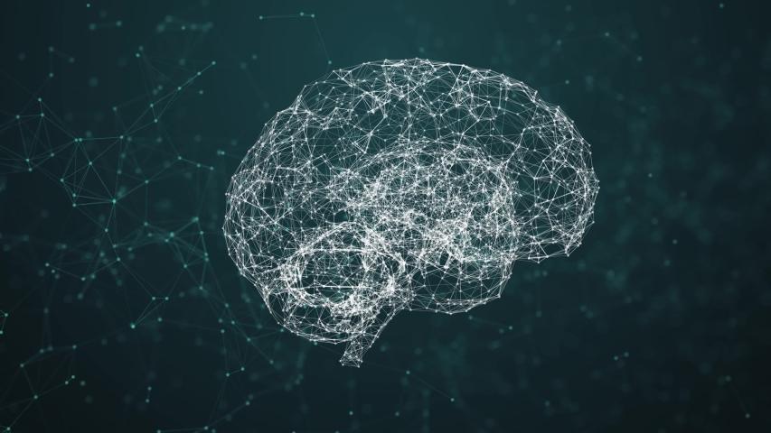 Artificial intelligence ( AI), Rotating human brain animation, modern computer technologies concepts. Deep learning, Big Data, Robotic system. Brain connect digital lines, Artificial intelligence. The | Shutterstock HD Video #1033844084