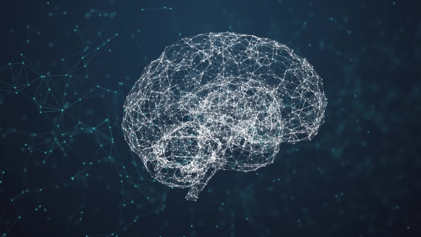 Artificial intelligence ( AI), Rotating human brain animation, modern computer technologies concepts. Deep learning, Big Data, Robotic system. Brain connect digital lines, Artificial intelligence. The | Shutterstock HD Video #1033845734