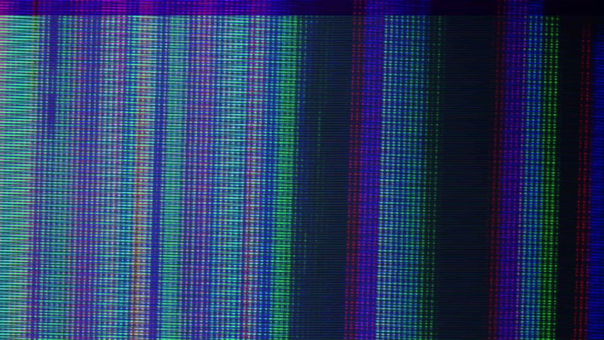VHS real screen damage defects noise and artifacts, glitches from an old tape, black screen | Shutterstock HD Video #1033919237