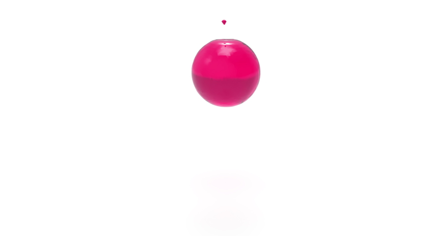 Rose Liquid Pours an Invisible Ball. 3D Animation of Loading Screen. | Shutterstock HD Video #1033932524