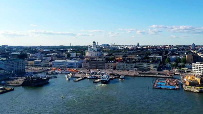 Helsinki timelapse city center summer | Aerial hyperlapse Helsinki