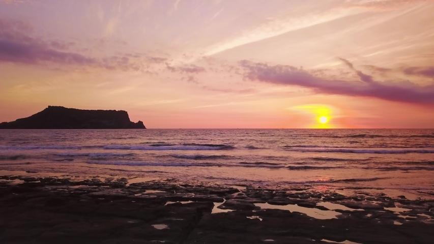 Seascapse in morning sunrise at Jeju island, South Korea. Beautiful seascape in Jeju-do, South Korea.   Shutterstock HD Video #1033958957