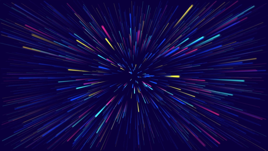 Multicolored rays on a blue background. Animation space | Shutterstock HD Video #1034032019