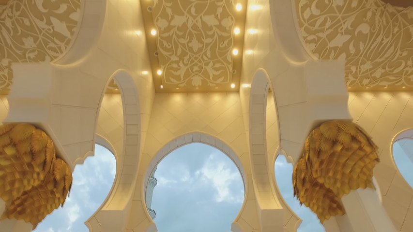Sheikh Zayed Grand Mosque , Abu Dhabi, United Arab Emirates (UAE) | Shutterstock HD Video #1034035262