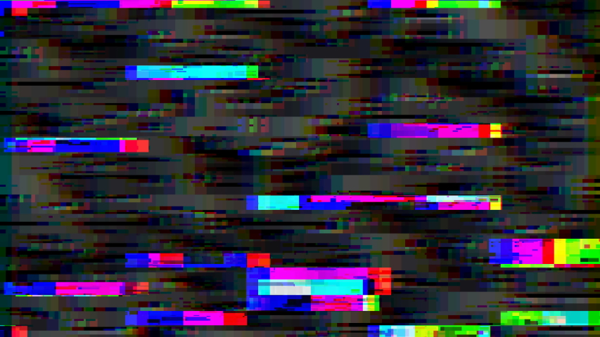 Signal glitch. Video distortion. Bad signal. Digital noise. Television broadcast failure, digital tv glitch with noise and scan lines as technology background. | Shutterstock HD Video #1034044103