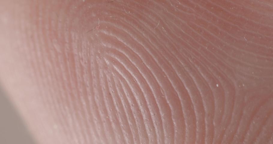 Fingerpring Caucasian Skin detail. Hairless macro detail Skin Pattern | Shutterstock HD Video #1034055233