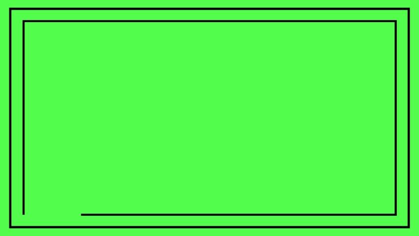 Black frame on green background. Animation 4k | Shutterstock HD Video #1034226299