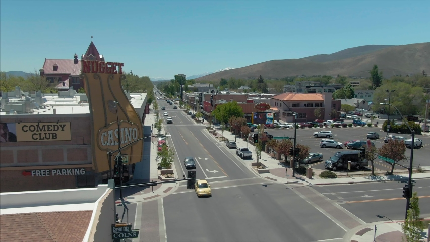 Aerial Of Downtown Downtown Carson Stock Footage Video 100 Royalty Free 1034241458 Shutterstock
