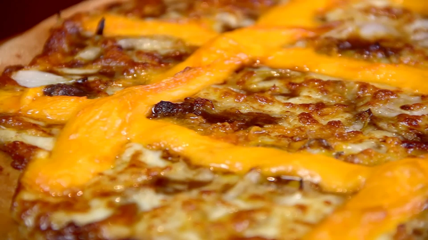 Cheese and Cheddar Pan Pizza #1034245859