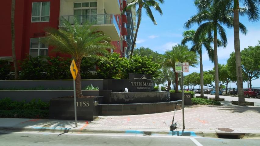 BRICKELL, FL, USA - JULY 28, 2019: The Mark on Brickell Bay a luxury highrise condominium 4k 60p | Shutterstock HD Video #1034253983