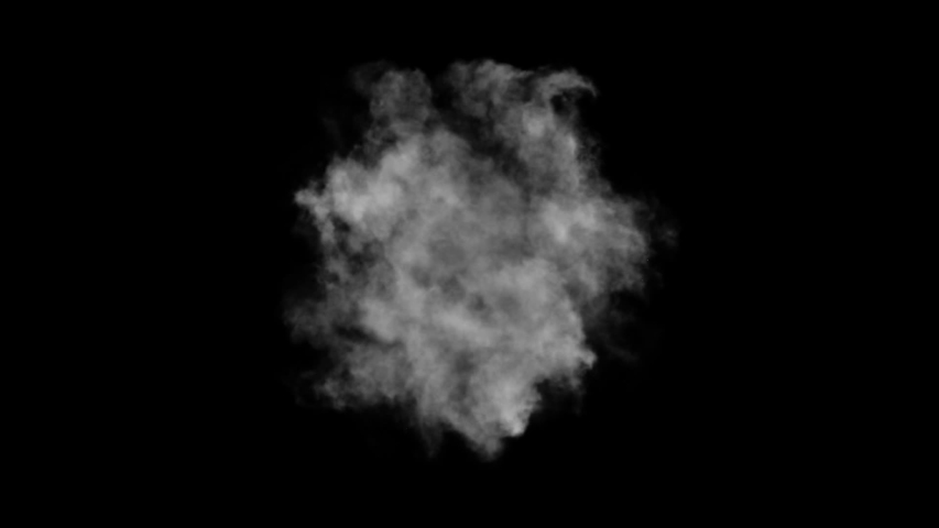 Smoke, steam explosion or puff animation  #1034259557