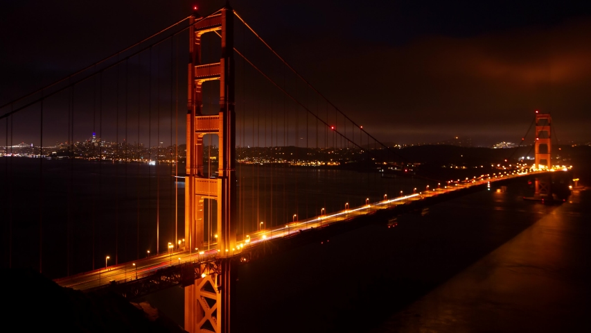 Sunrise time-lapse of the Golden Gate Bridge in San Francisco, CA | Shutterstock HD Video #1034269826