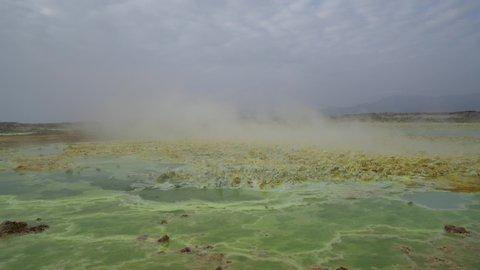 Ethiopia Danakil Depression dallol sulfur hot acidic spring