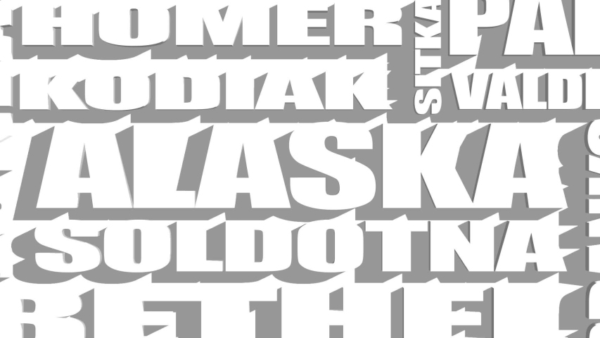 Image relative to usa travel. Alaska state cities list   Shutterstock HD Video #1034350907