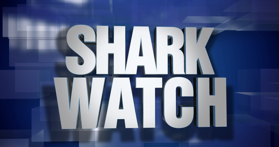 A blue dynamic 3D Shark Watch news transition and title page animation. 5 and 2 second options included. Green screen.	 	 | Shutterstock HD Video #1034366465