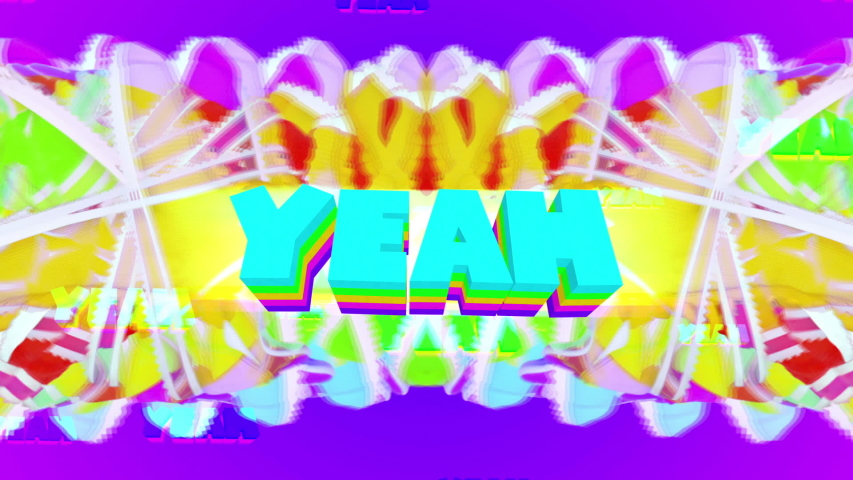 Animation design art. Text yeah