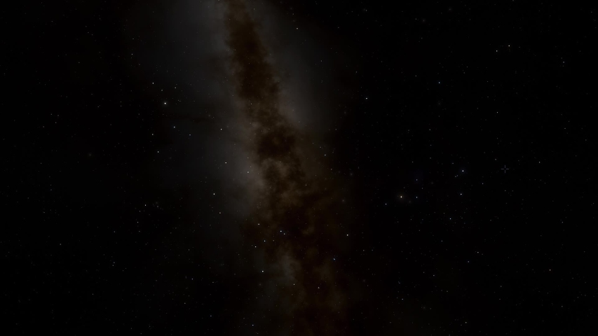 Asteroid floating through deep space ANIMATION | Shutterstock HD Video #1034423435