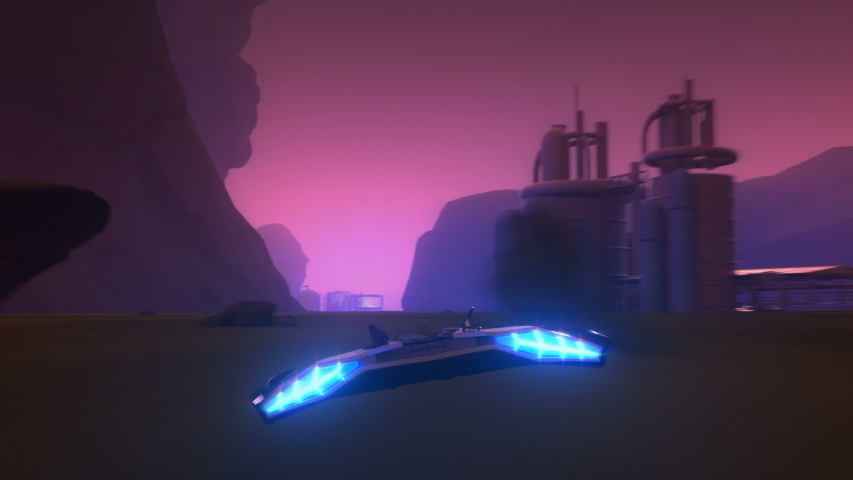 3d fake Video Game. Sci-Fi neon racing gameplay. Part1. No HUD | Shutterstock HD Video #1034463290