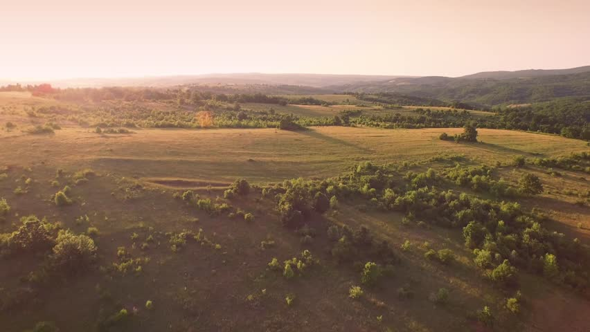 Aerial Flight Over Fly Tuscany Fields Trees Beauty Nature Sky Farm Agriculture UHD 4K   Shutterstock HD Video #10345100