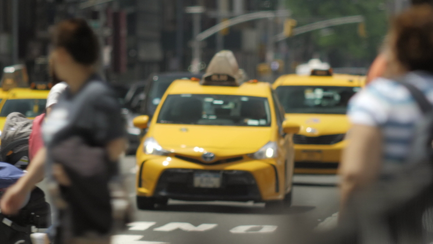 New york , new york / United States - 06 30 2018: NYC Traffic