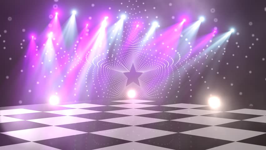 Virtual dance floor disco lights background 5 - for titles, logo, chromakey, green screen, music videos