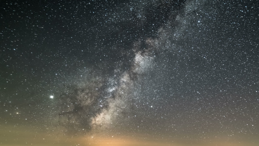 Milky way galaxy stars in starry sky Time lapse Day to night | Shutterstock HD Video #1034710574