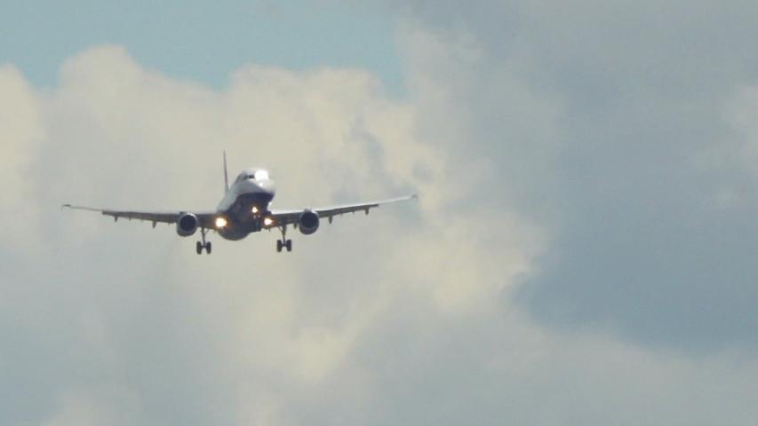 London Heathrow, United Kingdom - 05 12 2019: British Airways plane extreme close-up landing 3 | Shutterstock HD Video #1034741747
