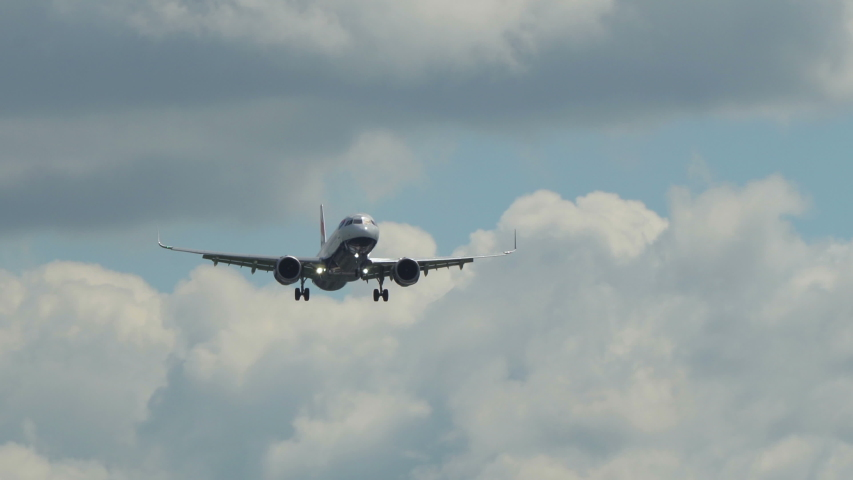 London Heathrow, United Kingdom - 05 12 2019: 4k British Airways plane extreme close-up landing | Shutterstock HD Video #1034741825