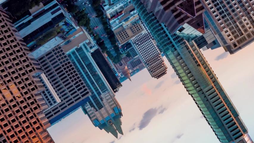 4K Time Lapse Austin Texas Skyline Hyperlapse Aerial Drone Cesar Chavez Flip Royalty-Free Stock Footage #1034758094