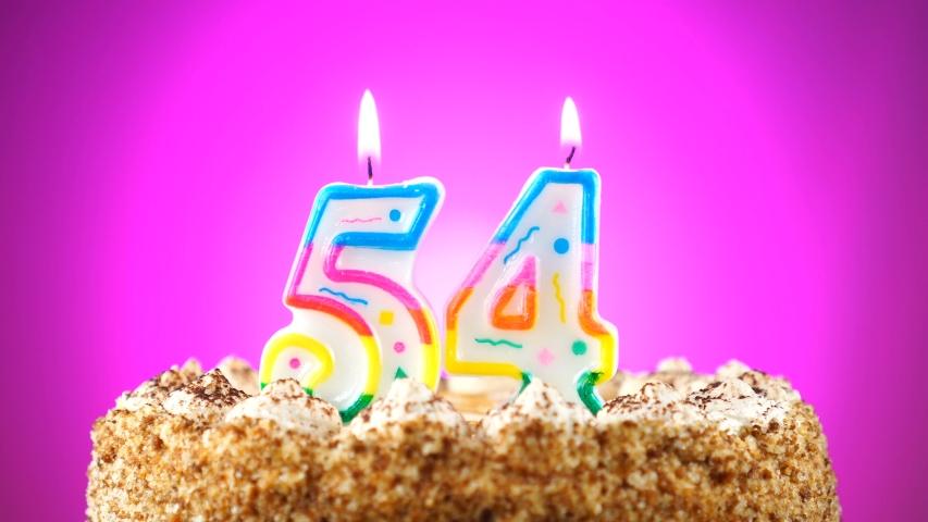 Fine Birthday Cake With A Burning Stock Footage Video 100 Royalty Birthday Cards Printable Giouspongecafe Filternl