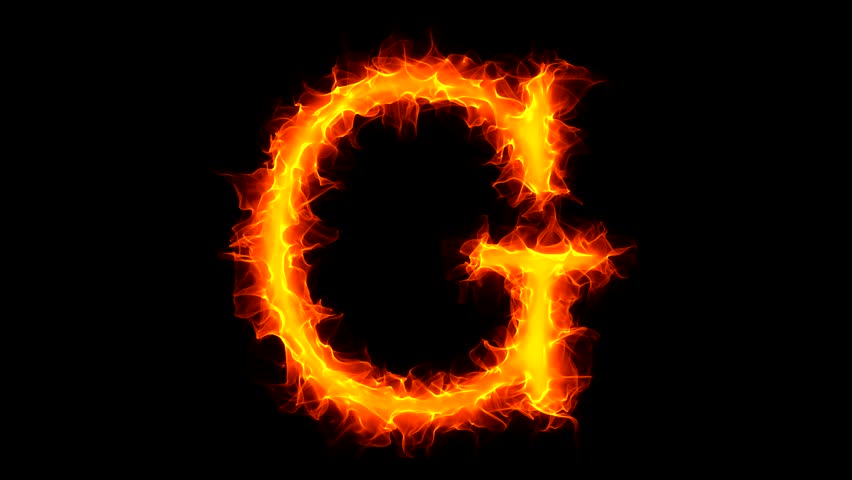 Letter G On Fire Stock Footage Video (100% Royalty-free) 1034779 ...