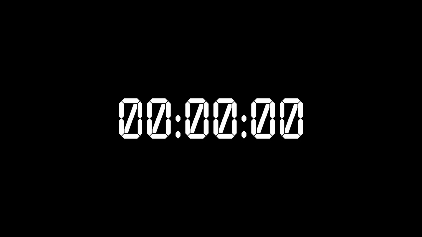 White digital timer starting 0 to 24 hours on black backdrop, Christmas eve concept. New year day timer in 30 seconds. Day of 24 hours on stopwatch. Daily clock with white numbers. | Shutterstock HD Video #1034821988