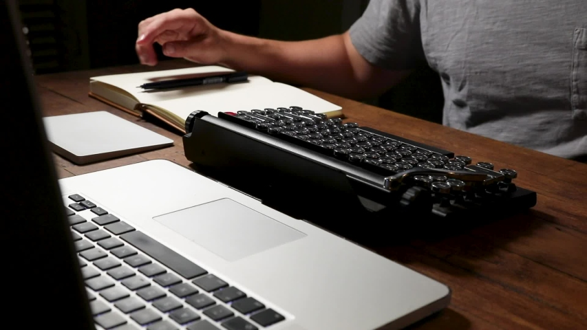 A Writer Typing On Mechanical Stock Footage Video (100% Royalty-free) 1034831213 | Shutterstock