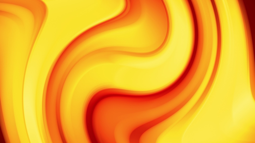 A red yellow gradient of a bright fire color changes slowly and cyclically. 4k smooth seamless looped abstract animation. 3d render of curved lines.  | Shutterstock HD Video #1034870726