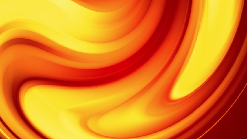 A red yellow gradient of a bright fire color changes slowly and cyclically. 4k smooth seamless looped abstract animation. 3d render of curved lines | Shutterstock HD Video #1034870774