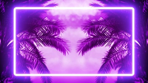 Nature Purple Graphic Palm Trees Stock Footage Video 100 Royalty Free 1034903531 Shutterstock