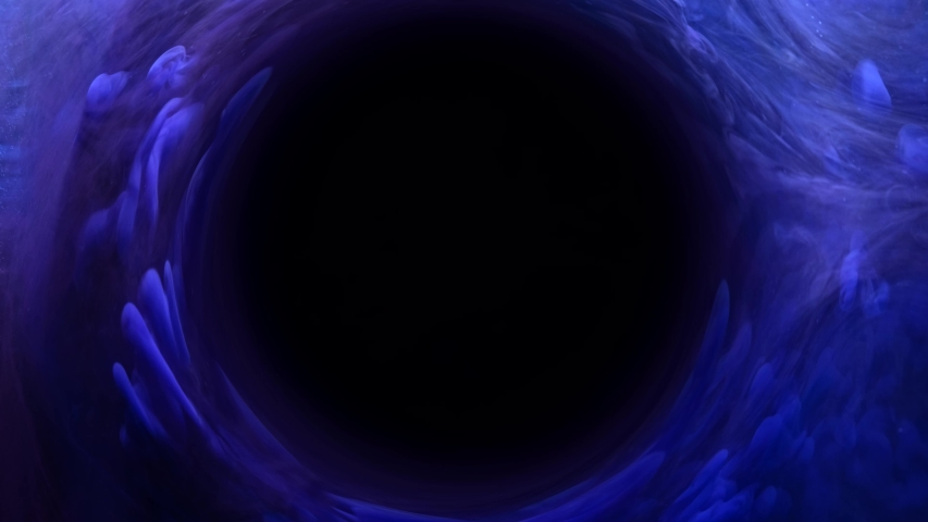 Ink water swirl. Time travel. Black hole. Blue fog circle motion. | Shutterstock HD Video #1034943881