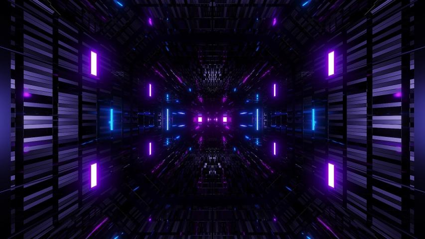 Textured scifi glitter tunnel corridor wallpaper background 3d illustration vj loop endless looping   Shutterstock HD Video #1035010328