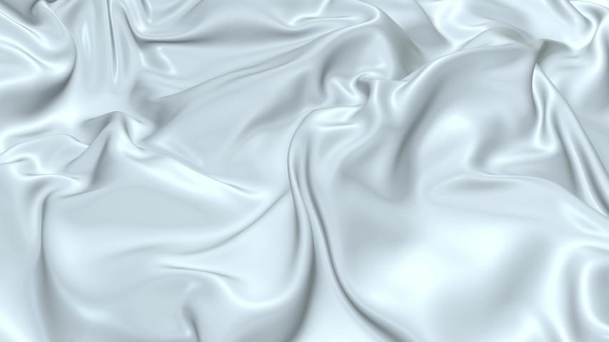 White silky fabric forms beautiful folds in the air in slow motion. 4k 3D animation of wavy surface forms ripples like in fluid surface and the folds like in tissue. Animated texture V26 | Shutterstock HD Video #1035096014