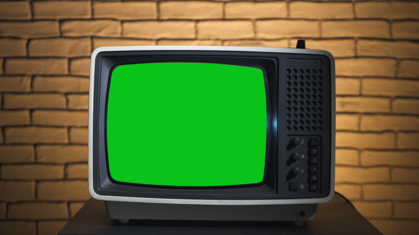 Video of turning on the retro tv | Shutterstock HD Video #1035165251