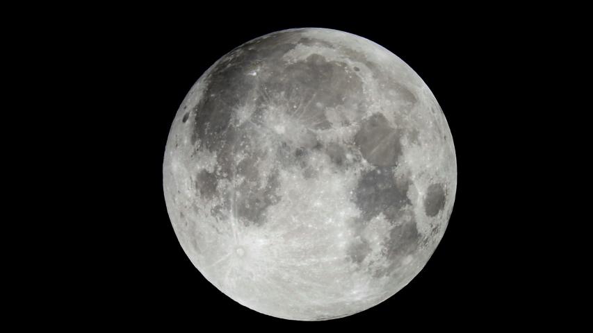 Full moon taken at the telescope | Shutterstock HD Video #1035165452