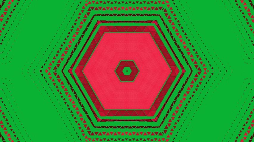 4K 3D Red Triangle shape transition on green screen   Shutterstock HD Video #1035188165