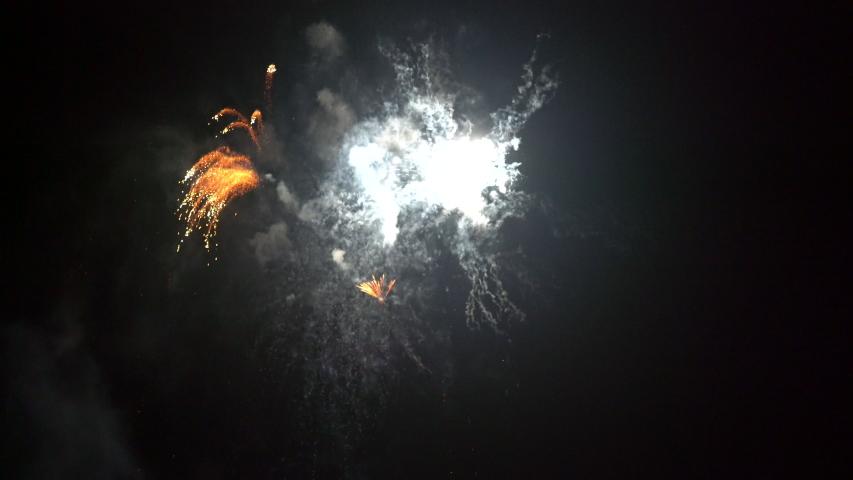 Okayama, Japan – 11 August: Japanese traditional fireworks festival in 2019. | Shutterstock HD Video #1035194348