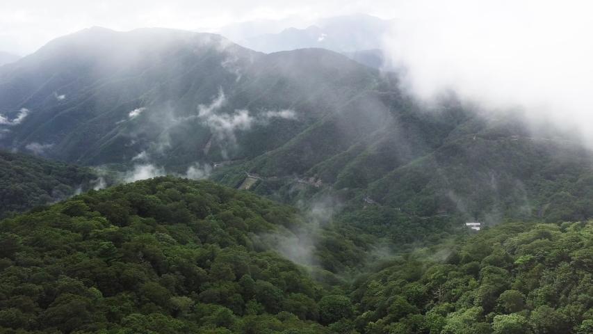 Mount Tsurugi, Tokusima/Japan – 12 August, 2019: The aerial view of Mount Tsurugi. | Shutterstock HD Video #1035205142