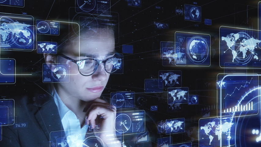 System engineering concept. GUI (Graphical User Interface). Computer programmer. Royalty-Free Stock Footage #1035221975