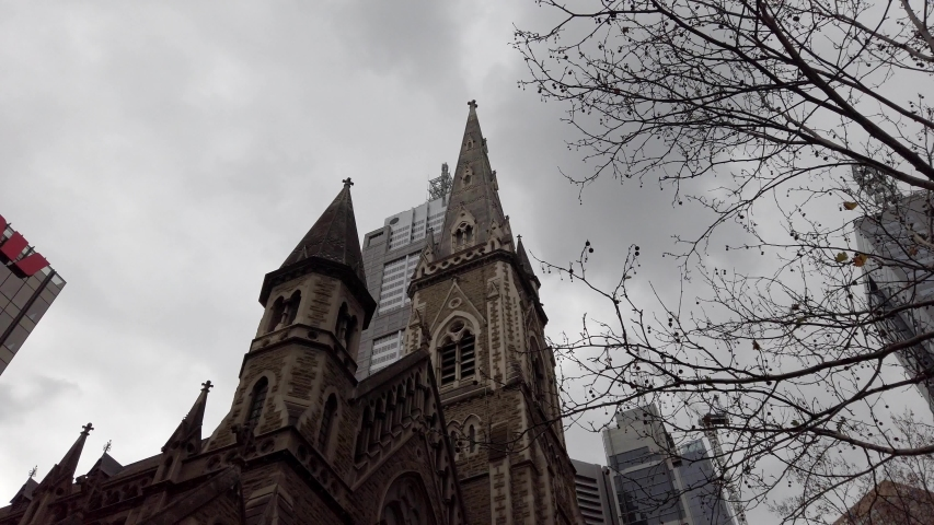 Looking up at a Church Spire   Shutterstock HD Video #1035262472