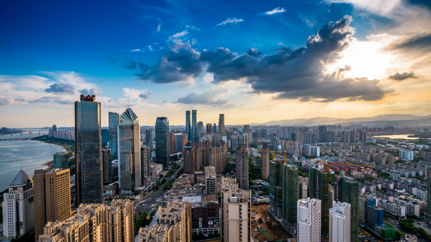 Beautiful city scenery time-lapse photography of Nanchang, the capital city of Jiangxi, China | Shutterstock HD Video #1035331646